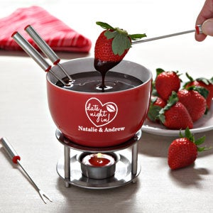 Personalized Fondue Set - Date Night - 12523