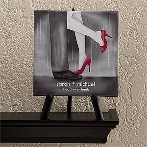 Personalized Canvas Art - Head Over Heels - 12526