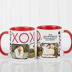 Personalized Photo Coffee Mugs - Hugs & Kisses - 12531