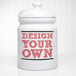 design your own personalized cookie jars