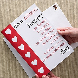 Personalized Friends Greeting Card - Anti-Love - 12537