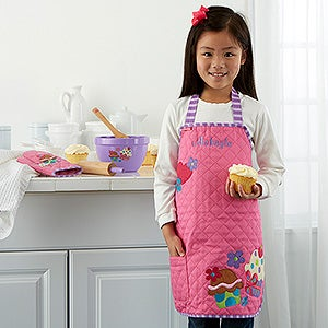 Cupcake Embroidered Kid S Apron By Stephen Joseph