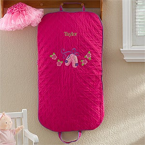 Personalized Girl's Garment Bag - Ballet Dancer - 12546