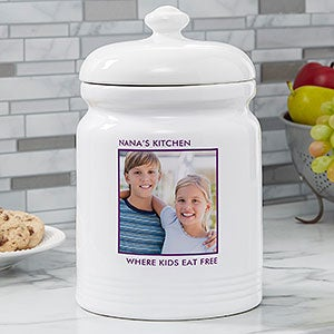 Personalised Engraved  Biscuit Cookie Jar Fathers Day Gift Dads Treats