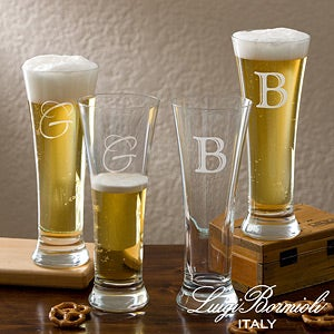 Personalized Pilsner Glass Set - Luigi Bormioli Sparkx - 12555
