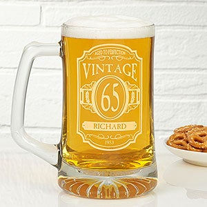personalized birthday beer mugs vintage classic