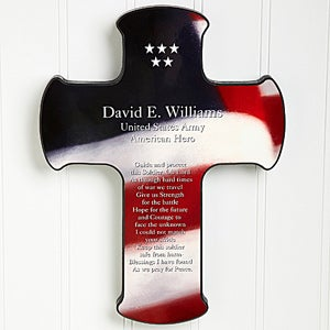 Soldier's Prayer Personalized Cross