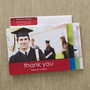 Personalized Photo Graduation Thank You Cards - 12601