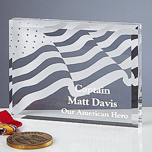 Personalized American Flag Hero Keepsake Gift - 12607