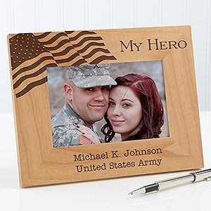 Military Hero Personalized Picture Frame - 12608