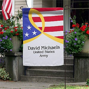 Personalized Patriotic Garden Flag - 12613