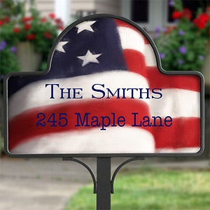 Personalized Yard Stakes - American Flag - 12614