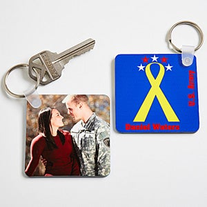 Personalized Military Photo Key Ring - 12616