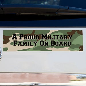 Personalized Military Family Camo Bumper Magnets - 12617