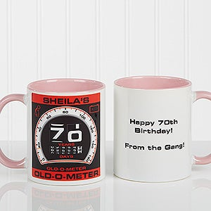 Personalized Birthday Mugs - Old-o-meter - 12625