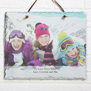 Personalized Photo Wall Plaque - Vertical Slate - 12634