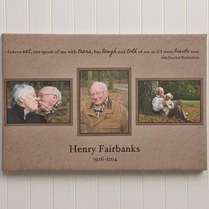Personalized Memorial Photo Collage Canvas Print - 12637