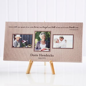 Wonderful Life Personalized Memorial Photo Canvas - 12638