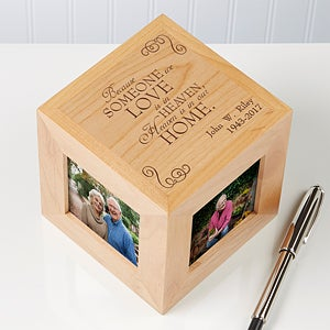 Personalized Memorial Photo Cube - Someone We Love - 12640