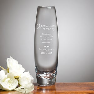 Personalized Memorial Bud Vase - 12646