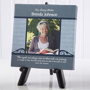 Personalized Memorial Photo Canvas Art - In God's Hands - 12647
