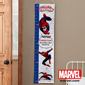 Personalized Spiderman Growth Chart - 12669
