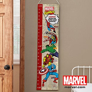 Personalized Boys Growth Chart - Classic Marvel Superheros - 12671