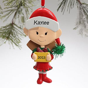 Little Sister Personalized Christmas Ornaments - 12683