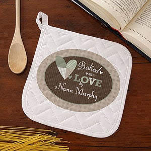 Personalized Apron & Potholder Set - Baked With Love - 12685