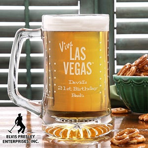 Personalized Elvis Beer Mug - Viva Las Vegas - 12692