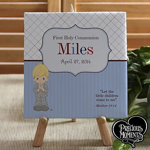 Personalized Precious Moments First Communion Keepsake Canvas - 12696