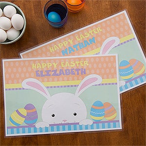 Personalized Easter Bunny Placemat for Kids - 12712