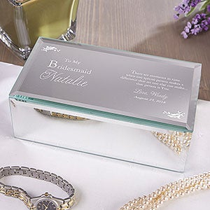 Personalized Bridesmaid Gift Mirrored Jewelry Boxes  - 12714