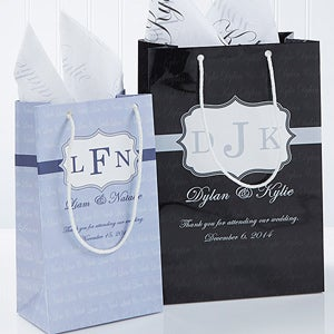 Personalized Wedding Gift Bags Cheap : Personalized Wedding Favor Gift Bags - Wedding Monogram - Wedding ...