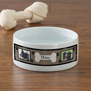 Photo Personalized Dog Bowls - Throw Me A Bone - 12717
