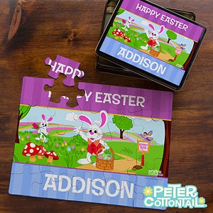 Personalized Easter Puzzles - Peter Cottontail - 12723