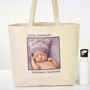 Personalized Photo Canvas Tote Bag for Her - 12734