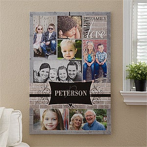 "Family Photo Memories Personalized Canvas Print - 24""x36"" - #12738-XL"