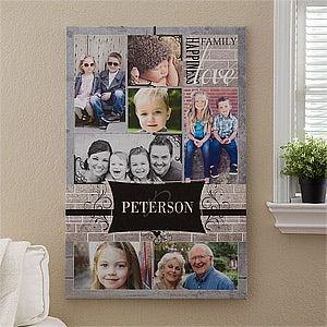 "Family Photo Memories Personalized Canvas Print - 24""x36"" - #12738-XL"