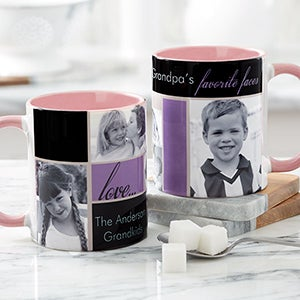 Personalized Photo Collage Coffee Mugs - Favorite Faces - 12739