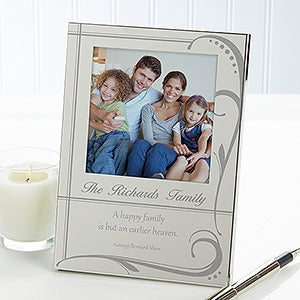 Personalized Silver Picture Frame - Family Bond - 12748