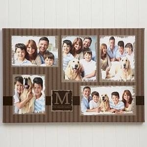 5 photo collage custom canvas print 16x24 photo gifts