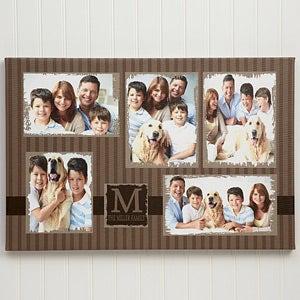 5 photo collage custom canvas print 24x36 photo gifts