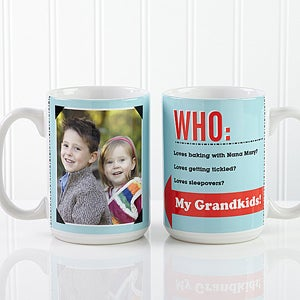 Personalized Photo Coffee Mugs - Who Loves You,Personalized Photo Coffee Mugs - Who Loves You - 12755