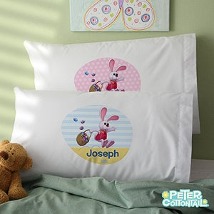 Personalized Peter Cottontail Easter Pillowcase for Kids - 12756