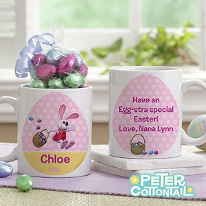 Personalization Mall Personalized Kids Easter Mug with Chocolate Eggs - Peter Cottontail at Sears.com