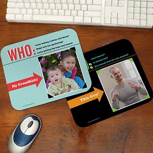 Personalized Photo Mouse Pads - Who Loves You? - 12758