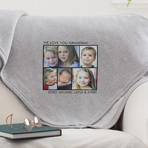 Personalized Photo Sweatshirt Blankets - Picture Perfect - 12760