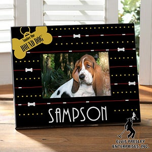 Personalized Pet Picture Frames - Elvis Hound Dog - 12764