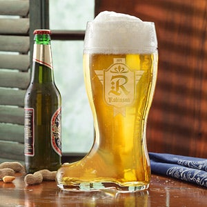 Personalized Beer Boot - Family Crest - 12765